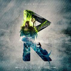 Raido Rune by UI Viking (Alex Borisson)
