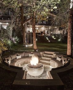 Fire Pit Area, Fire Pit Backyard, Fire Pit On Wood Deck, Outdoor Fire Pits, Garden Fire Pit, Fire Pit Near Pool, Fire Pit Pergola, Outside Fire Pits, Fire Pit With Pavers