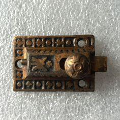 Antique Vintage Cast Iron Cabinet Door Spring Latch Cupboard Eastlake Victorian…