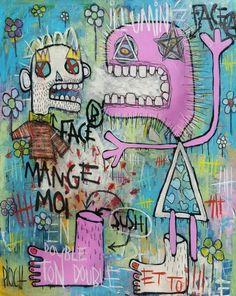 """Comme un sushi"" by olivier PIOCH - 2017 - outsider art - artworks - street art -"
