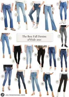 Fashion expert Jo-Lynne Shane shares her favorite premium denim available this year in Nordstrom's big anniversary sale. Check out her post to see which brands and styles you should plan on adding to your wardrobe. Winter Fashion Casual, Spring Summer Fashion, Autumn Winter Fashion, Fashion Pants, Fashion Outfits, Everyday Casual Outfits, Fashion For Women Over 40, Denim Trends, Denim Branding