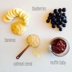 The Scoop Blueberries are packed with manganese, an important nutrient that helps with babies bone development. Is your baby on the go?! Fuel baby's body with bananas- the potassium helps with prop...