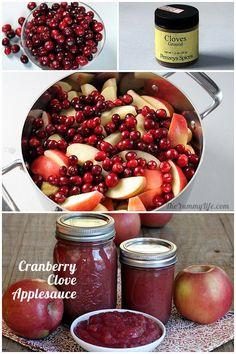 Cranberry Clove No Sugar Added Applesauce