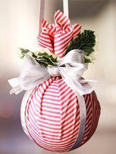Mejores 42 Imagenes De Navidad En Pinterest Ornamenti Natalizi - Adornos-de-navidad-con-tela