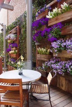 Fabulous DIY Vertical Garden Design Ideas Do you have a blank wall? the best way to that is to create a vertical garden wall inside your home. A vertical garden wall, also called a… Continue Reading → Small Backyard Landscaping, Backyard Garden Design, Diy Garden, Terrace Garden, Patio Design, Backyard Patio, Backyard Ideas, Patio Ideas, Planter Garden