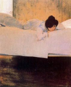 La Mandra (Laziness), by Catalan Spanish painter Ramon Casas i Carbó. Spanish Painters, Spanish Artists, Figure Painting, Painting & Drawing, Academic Drawing, Figurative Kunst, Google Art Project, Modernisme, Art Plastique