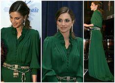 Queen Rania- love the dress! Fashion Moda, Royal Fashion, Womens Fashion, Muslim Fashion, Modest Fashion, Mode Outfits, Fashion Outfits, Queen Rania, Moroccan Caftan