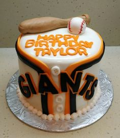 San Francisco Giants baseball themed baby shower cake for a baby