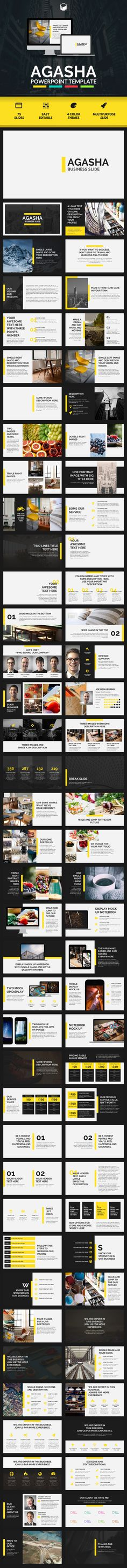 AGASHA  PowerPoint Template  #flow #proposal • Download ➝ https://graphicriver.net/item/agasha-powerpoint-template/18373950?ref=pxcr