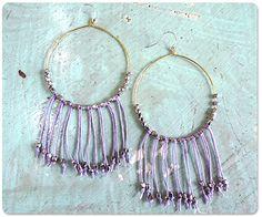 how-to: tulum beach fringe earrings {ornamentea}