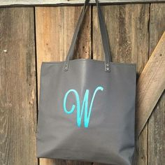 I LOVE LOVE LOVE these new big monograms! Around Town tote
