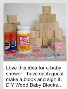 Baby shower activity. Have each guest design their own block.