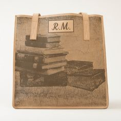 Shop Book Lovers Vintage Monogram Leather Tote Bag created by BlueRose_Design. Personalize it with photos & text or purchase as is! Retro Gifts, Vintage Gifts, Rustic Gifts, Vintage Monogram, Retro Ideas, Leather Journal, Tote Bag, Leather Accessories, Worlds Of Fun