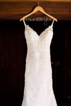 Lace Casablanca Wedding Dress with Train
