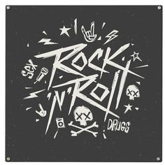 Rock 'n' Roll Magnetic Wall Mounted Board Happy Larry
