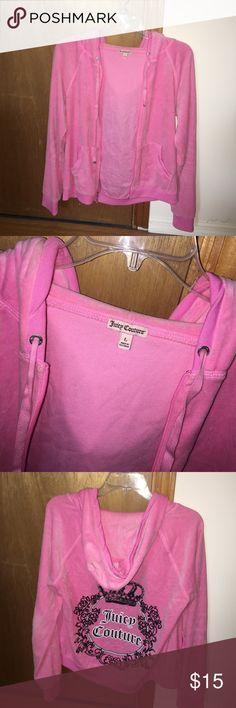 Juicy couture sweatshirt Pink zip up juice couture sweatshirt Juicy Couture Tops Sweatshirts & Hoodies