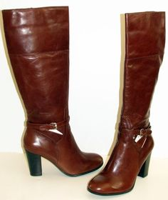 NEW Marc Fisher Womens Kevins Brown Leather Boots Shoes 9.5 M NEW IN BOX in Clothing, Shoes & Accessories, Women's Shoes, Boots | eBay
