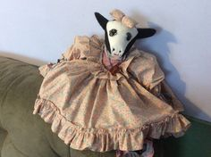 Soft sculpture cow doll by EMTWTT on Etsy