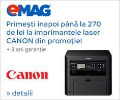 eMAG.ro Oferta Primesti inapoi pana la 270 de lei la imprimanta laser Canon ! EMAG.RO Canon, Electronics, Phone, Telephone, Cannon, Mobile Phones, Consumer Electronics