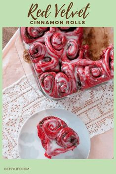 """Red Velvet Cinnamon Rolls are the ultimate breakfast food for saying """"I love you"""". Roll them into heart shapes and celebrate your sweetie any day of the year. #redvelvetcinnamonroll #redvelvetrecipe #cinnamonrolls #valentinesday #heartshaped Red Velvet Receta, Oreo Truffle Brownies, Breakfast Recipes, Dessert Recipes, Breakfast Ideas, Red Velvet Recipes, Sweet And Spicy, Sweet Bread, Cinnamon Rolls"""