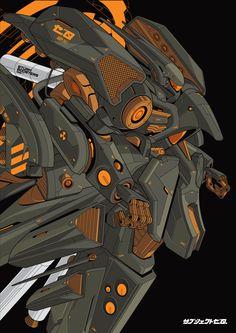 ArtStation - AMX-003S NEUE ZIEL III, Aditya Permadi
