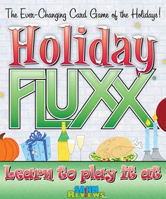 Holiday Fluxx is the latest incarnation of the popular Fluxx line of games. Out this month, SahmReviews takes a look at a copy before it hits the shelves! - SahmReviews.com