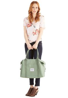 Places to Be Weekend Bag in Sage | Mod Retro Vintage Bags | ModCloth.com