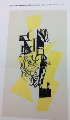 Raoul Hausmann: Woodcut for Club Dada, Berlin, 1917