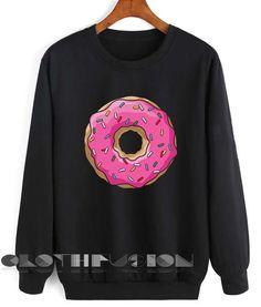 Unisex Crewneck Sweatshirt Donut Logo Black Design Clothfusion