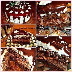 Χριστουγεννιάτικη Τούρτα_ βήμα βήμα_ Greek Desserts, Greek Recipes, Cake Cookies, Cupcakes, Dessert Recipes, Chocolate, Cooking, Sweet, Christmas