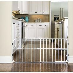 Carlson Pet Products Design Studio Expandable Pressure Mounted Dog Gate Size: Mini Tuffy H x W x D), Finish: Beige Pet Gate With Door, Pet Door, Extra Tall Pet Gate, Freestanding Dog Gate, Baby Gates, Doge, Small Dogs, Best Dogs, Pet Supplies