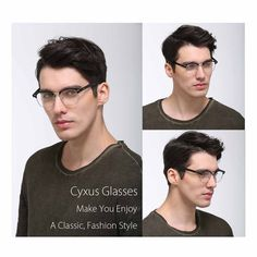 Amazon.com: Cyxus Blue Light Filter [Anti Eye Strain] Semi-Rimless Computer Glasses, Unisex(Mens/Womens) Blocking UV Reading Eyewear: Video Games