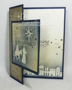 Stampin' Up! Night in Bethlehem Christmas card – Dawn's Stamping Thought… Stampin' Up! Night in Bethlehem Christmas card – Dawn's Stamping Thoughts Christmas Car Decorations, Christmas Cards 2017, Religious Christmas Cards, Stampin Up Christmas, Xmas Cards, Holiday Cards, Stampin Up Weihnachten, Winter Karten, Karten Diy