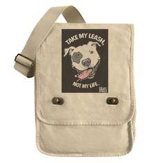 Pit Bull Messenger Bag by PinupsforPitbullsInc on Etsy, $35.00