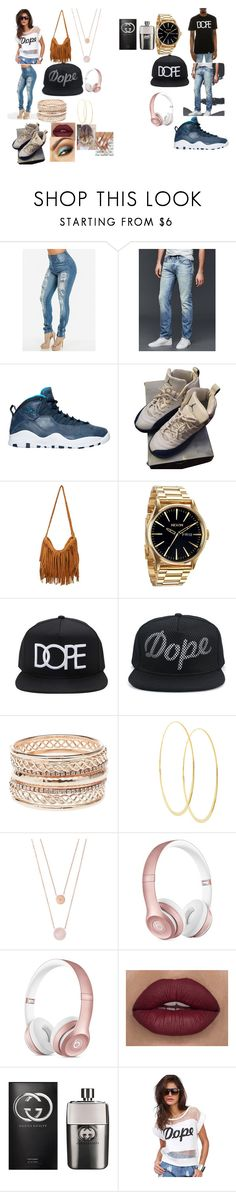 """""""Dope Goals"""" by jalele ❤ liked on Polyvore featuring Gap, NIKE, Nixon, Forever 21, Charlotte Russe, Lana, Michael Kors, Beats by Dr. Dre, Gucci and Dope"""