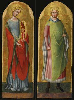 St. Catherine of Alexandria and St. Sigismund of Burgundy by Lorenzo Veneziano, c. 1368