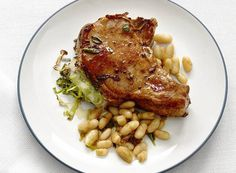 Stuffed Pork Chop: Stephanie's recipe for succlent pork chops stuffed with brie, spinach, and dried grapes. A gourmet masterpiece.