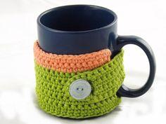 Mug cozy, mug warmer, cup cozy, cup warmer, mug cosy, mug wrap, gift for him, unisex, tea drinker, coffee drinker, house warming gift, green by MissSnowdrop on Etsy