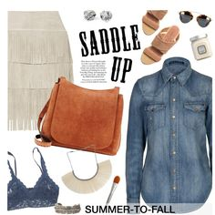 suede saddle bag by jesuisunlapin on Polyvore featuring polyvore, fashion, style, Polo Ralph Lauren, Illia, Hanky Panky, The Row, Bjørg, Yves Saint Laurent and T. LeClerc