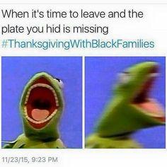 #LOL #ThanksgivingWithBlackFamilies #ThanksgivingClapBack