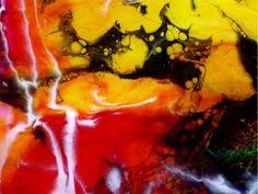 Tara Baden Original Large Epoxy Resin Abstract Colorful Home Decor Canvas Art | eBay