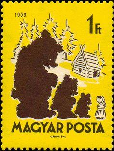 Stamp: Mashenka and the Three Bears (Hungary)