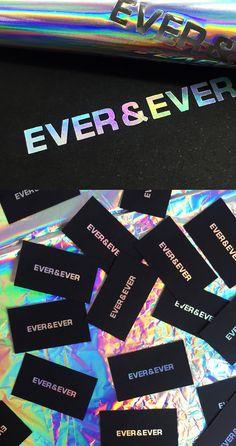 Rainbow foil blocking by Dot Studio London. Foil Business Cards, Beauty Business Cards, Unique Business Cards, Business Card Design, Fashion Business Cards, Letterpress Business Cards, Stationery Design, Branding Design, Corporate Design