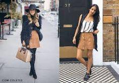 Resultado de imagem para a blusa suede combina com estilo moderno e com calça jeans flare