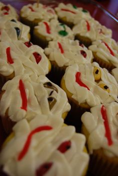 """""""Mummy Cakes""""  Idea from Martha Stewart.  I made these for my class in 2007."""