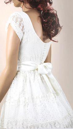 Plus Size Ivory romantic bridesmaid / evening / lace cotton dress Modest Wedding Gowns, Bridal Gowns, Lace Outfit, Lace Dress, White Dress, Blue Bridesmaids, Bridesmaid Dresses, Nice Dresses, Flower Girl Dresses