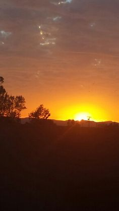 Our beautiful sunset in California. ..