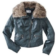 Grayish blue biker faux fur jacket Re-poshing this Grayish blue biker faux fur jacket, size S. Very very cute but unfortunately too small for me around the underarm. My bust size is 36-38 really meant for 32-34! Xhilaration Jackets & Coats