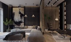 Roohome.com - Do you want to apply a dark living room design ideas in your house? That is the great idea because it can bring the uniqueness in it. But it also do not make your design become a darkness. It will make it more stunning because the effect of ...
