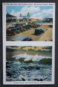 1920s Old Cars Pier Surf Old Orchard Beach Maine  ebay.com